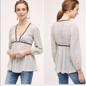 Anthropologie Kota peasant top